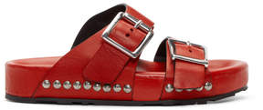 Alexander McQueen Red Strap Sandals