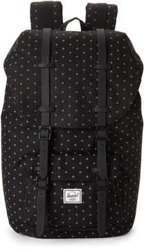 Herschel Black Little America Grid-Print Backpack