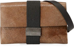Brunello Cucinelli Stardust Leather Crossbody Bag