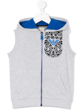 Emporio Armani Kids printed hooded vest