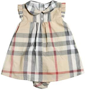 Burberry Check Cotton Poplin Dress & Diaper Cover