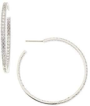 FANTASIA 3.4 TCW Cubic Zirconia Hoop Earrings