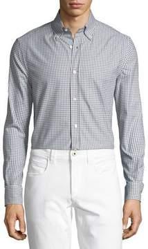 Loro Piana Alfred Gingham Cotton Sport Shirt