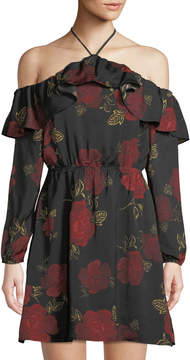 Cupcakes And Cashmere Boden Floral-Print Mini Dress