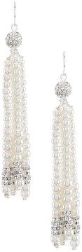 Cezanne Faux-Pearl Tassel Statement Earrings