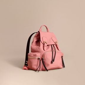 Burberry The Medium Rucksack in Deerskin with Resin Chain - BLOSSOM PINK - STYLE