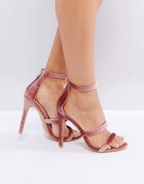 Public Desire Dusty Pink Heeled Sandals