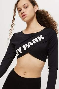 Ivy Park Reverse wrap crop top