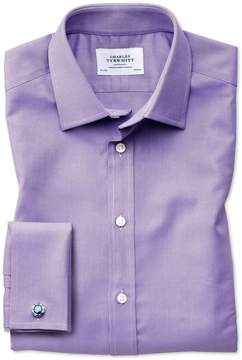 Charles Tyrwhitt Classic Fit Egyptian Cotton Royal Oxford Lilac Dress Shirt French Cuff Size 15.5/33