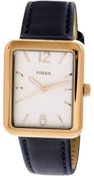 Fossil Women's Atwater ES4158 Rose-Gold Leather Quartz Fashion Watch