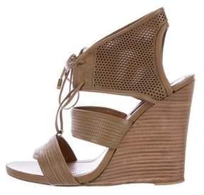 Derek Lam Lace-Up Wedge Sandals
