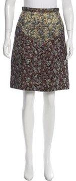Rodarte Metallic A-Line Skirt