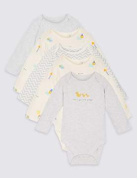 Marks and Spencer 5 Pack Pure Cotton Bodysuits