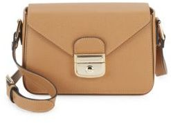 Longchamp Minimalistic Leather Clutch - BEIGE - STYLE