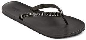 Mossimo Women's Lula Rhinestone Detail Flip Flop Sandals