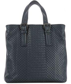 Bottega Veneta Blue Leather Handle Bag