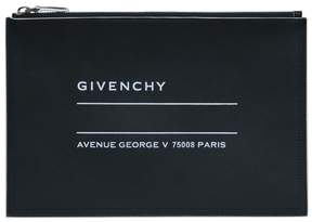 Givenchy Address Logo Leather Pouch
