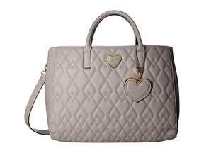 Betsey Johnson Structured Quilt Satchel Satchel Handbags