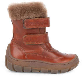 Pom D'Api Fur-lined leather boots