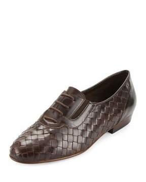 Sesto Meucci Nadir Woven Leather Oxford, Moro Brown