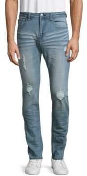 Buffalo David Bitton Max-X Distress Bleached Jeans