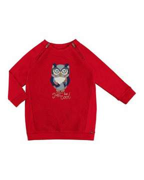 Mayoral Padded Owl Dress, Size 3-7