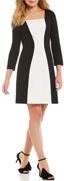Isaac Mizrahi Imnyc IMNYC Square Neck A-Line Dress
