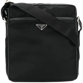 Prada logo messenger bag