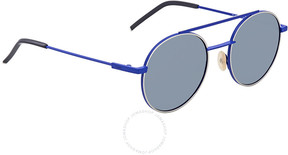 Fendi Blue Round Sunglasses