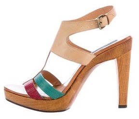 Derek Lam Leather Slingback Sandals