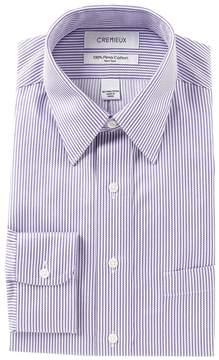 Daniel Cremieux Non-Iron Classic Fit Point Collar Stripe Dress Shirt