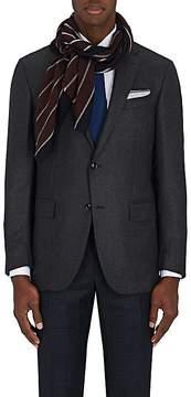 Barneys New York Men's Striped Wool-Blend Scarf