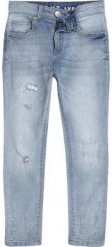 River Island Boys light blue Sid distressed skinny jeans