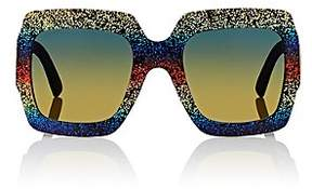 Gucci Women's GG0102S Sunglasses – Glitter Rainbow