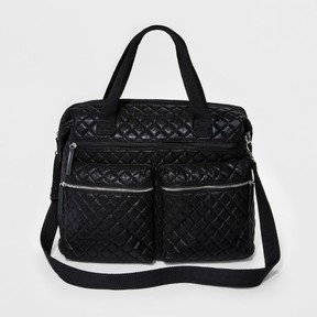 Mossimo Women's Metallic Quilted Weekender Bag Black