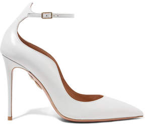 Aquazzura Dolce Vita Leather Pumps - White