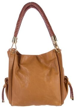 Michael Kors Pebbled Leather Shoulder Bag - BROWN - STYLE