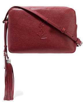 Saint Laurent Monogramme Lou Leather Shoulder Bag - Burgundy - BURGUNDY - STYLE