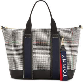 Tommy Hilfiger Ravenna Plaid Canvas Tote