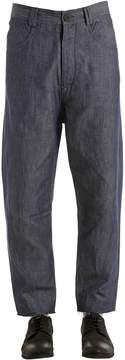 Isabel Benenato Carrot Fit Cotton & Linen Denim Jeans