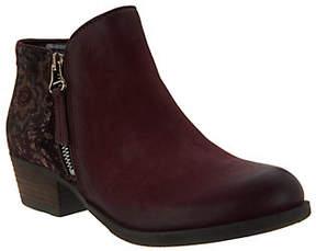 Miz Mooz Leather Ankle Boots w/ Zipper Detail - Bangkok