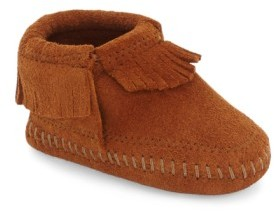 Minnetonka Infant Girl's 'Riley' Fringe Suede Bootie