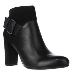 Bar III B35 Nimble Buckle Dress Ankle Boots, Black.