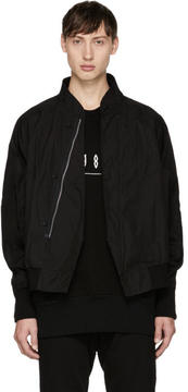 Julius Black Raglan Bomber Jacket