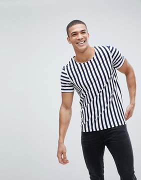 Jack and Jones T-Shirt With Vertical Stripe
