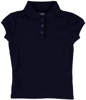 Chaps Girls 8-16 Picot School Uniform Polo