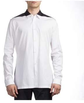 Balenciaga Men's Cotton Long Sleeve Dress Shirt Two Tone.