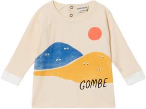 Bobo Choses Buttercream Mountains Long Sleeve T-Shirt