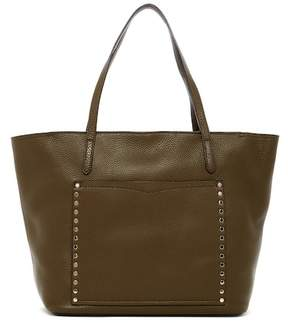 Rebecca Minkoff Unlined Front Pocket Leather Tote - MOSS - STYLE