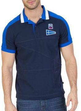 Nautica Slim-Fit Color Block Cotton Polo